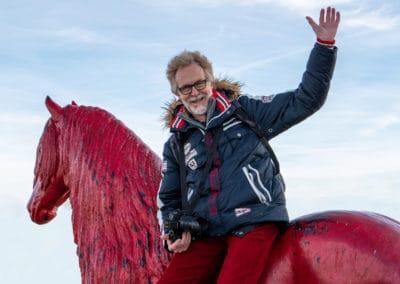 Jörg on red horse 2