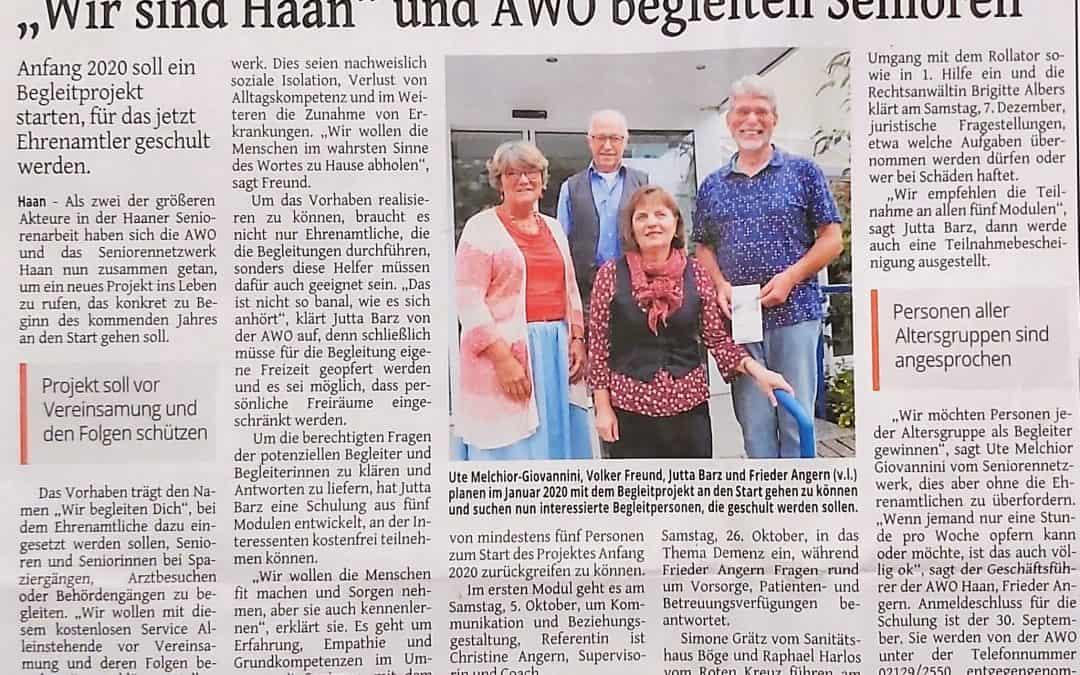 """""""Wir sind Haan"""" und AWO begleiten Senioren"""